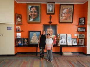 Saraswathi et moi dans le grand chala