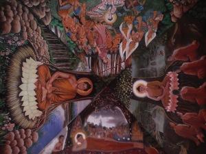 plafond d'une entrée d'un temple